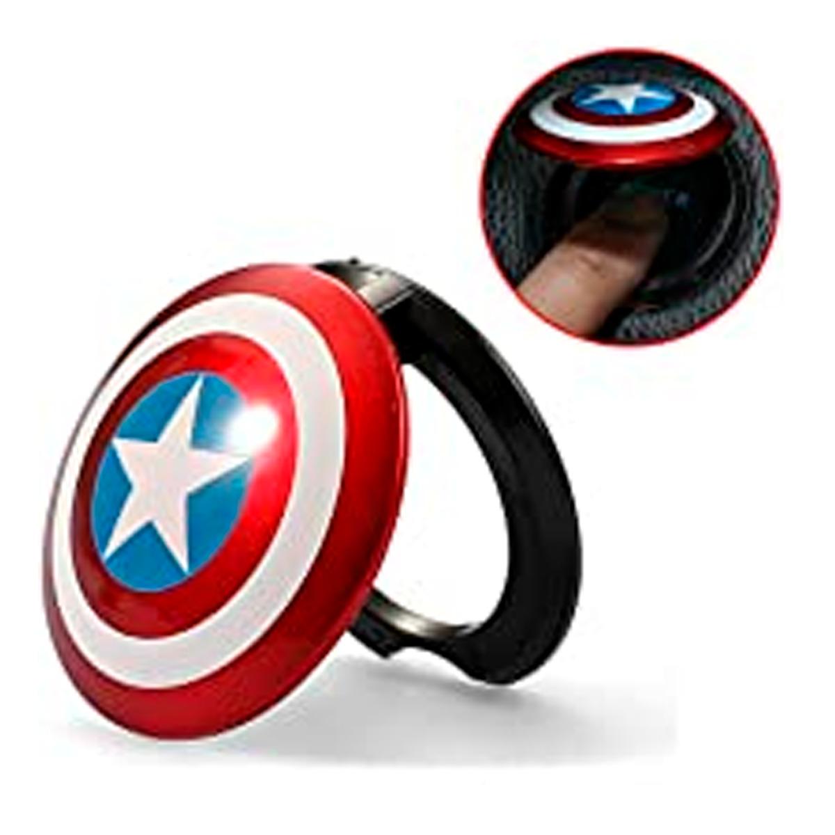 Protector Para Botón Encendido Capitán América Plástico