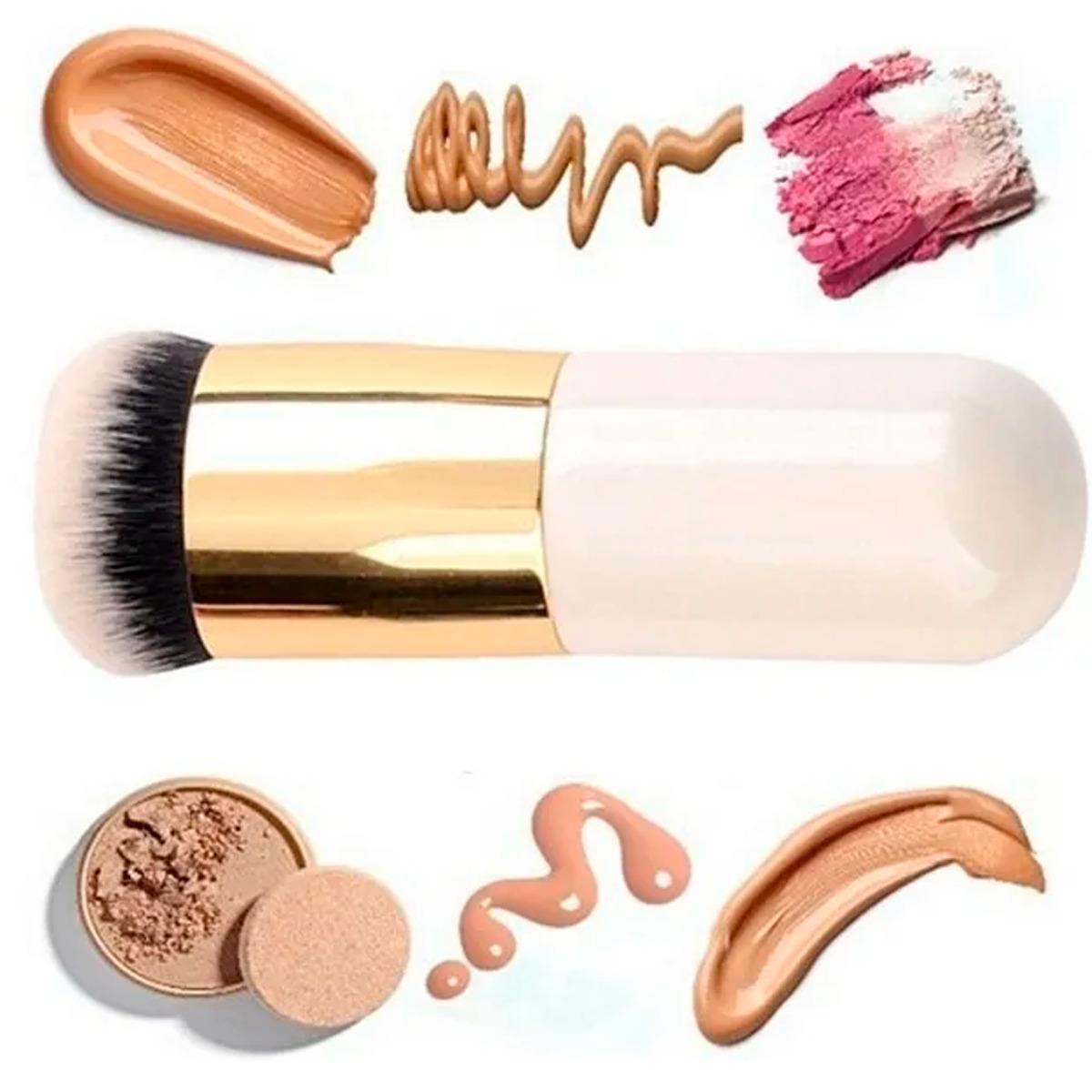 Brocha Kabuki Para Maquillaje Mineral Compacto