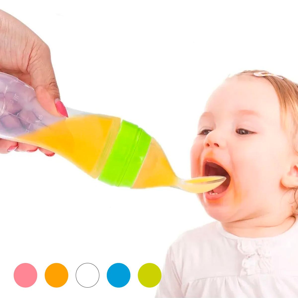 Cuchara Para Papilla Biberón Dosificador Bebe Alimentador
