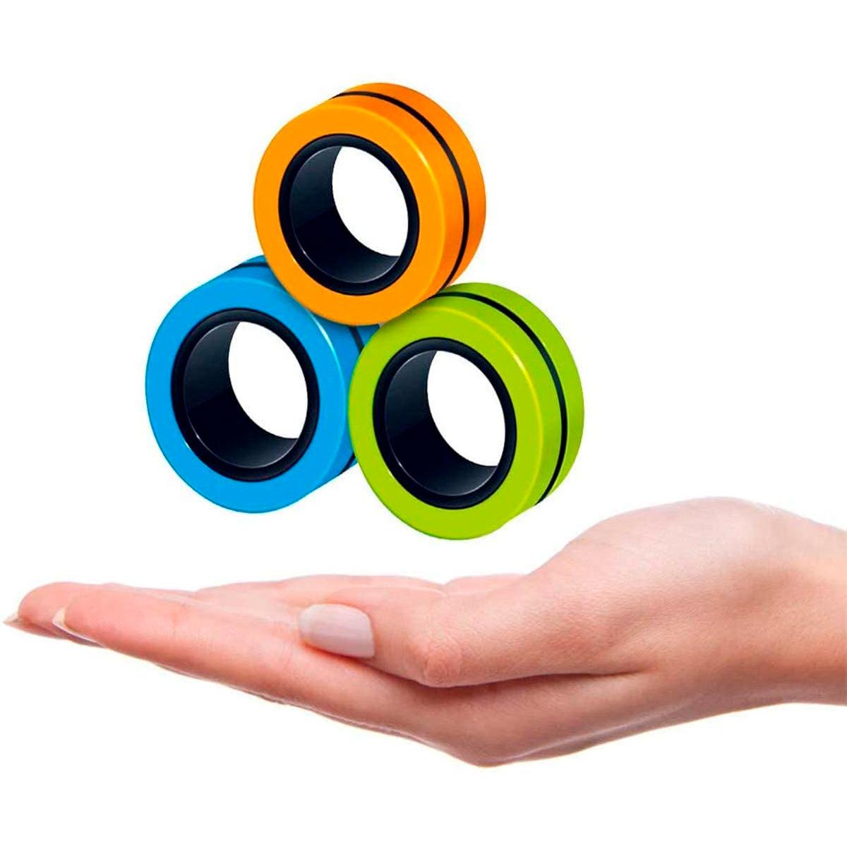 3pcs Anillos Mágicos Antiestrés Magneticos Fidget Toy