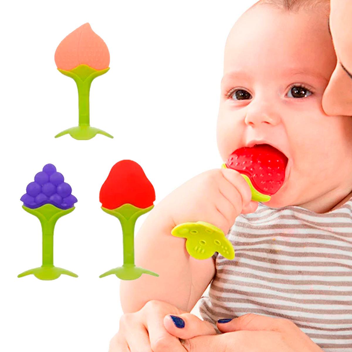 1 Mordedera De Frutas Silicon Bebé Juguetes Para La Encía