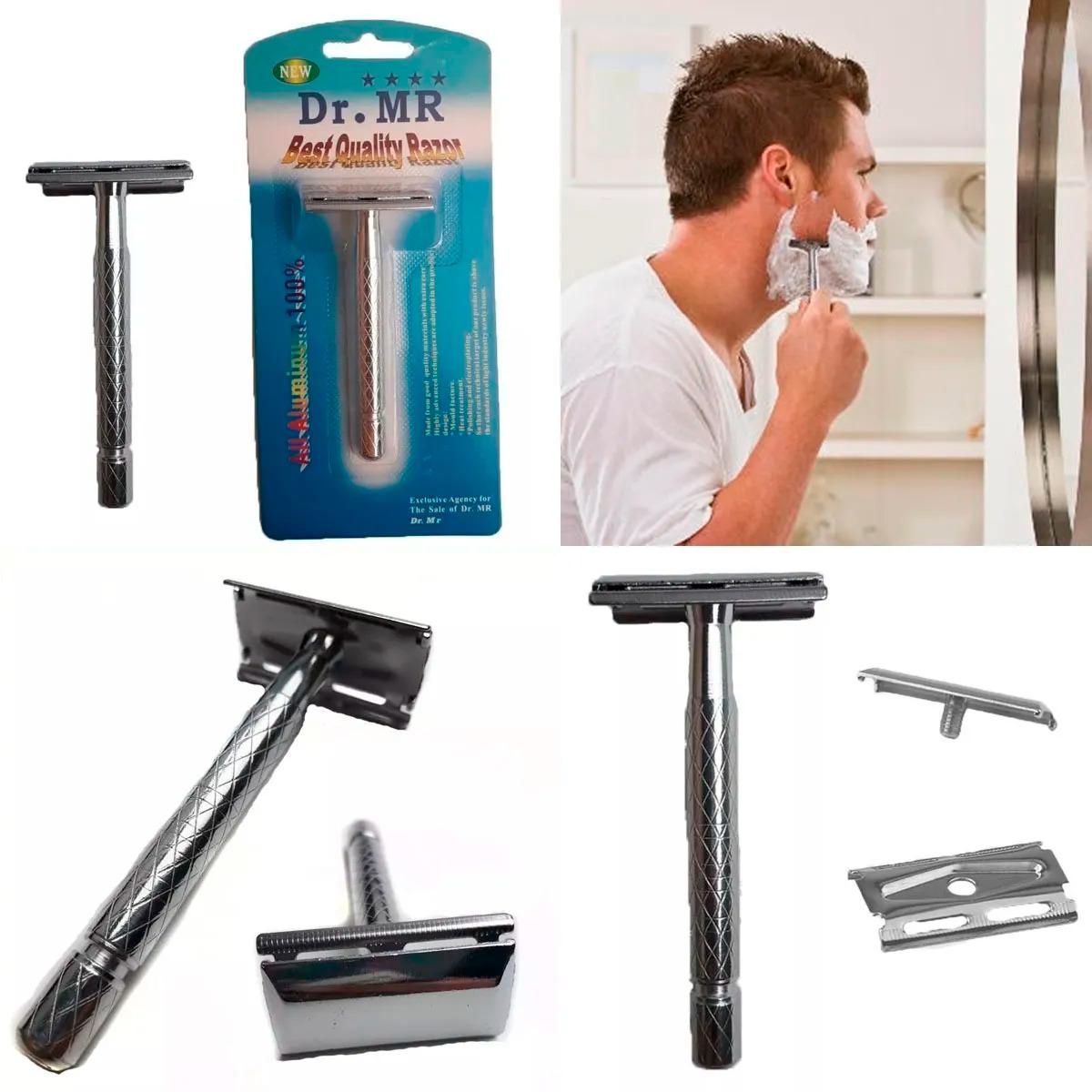Rastrillo Para Afeitar Barba Clásico Doble Filo Dr. Mr
