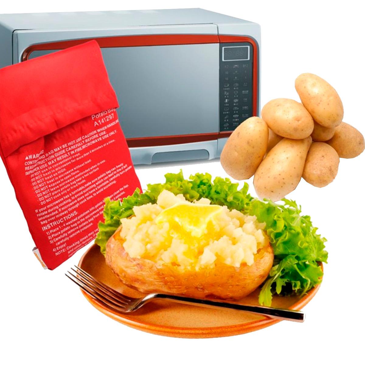 Bolsa Para Cocinar Cocer Papa Potato Express Horno Microondas