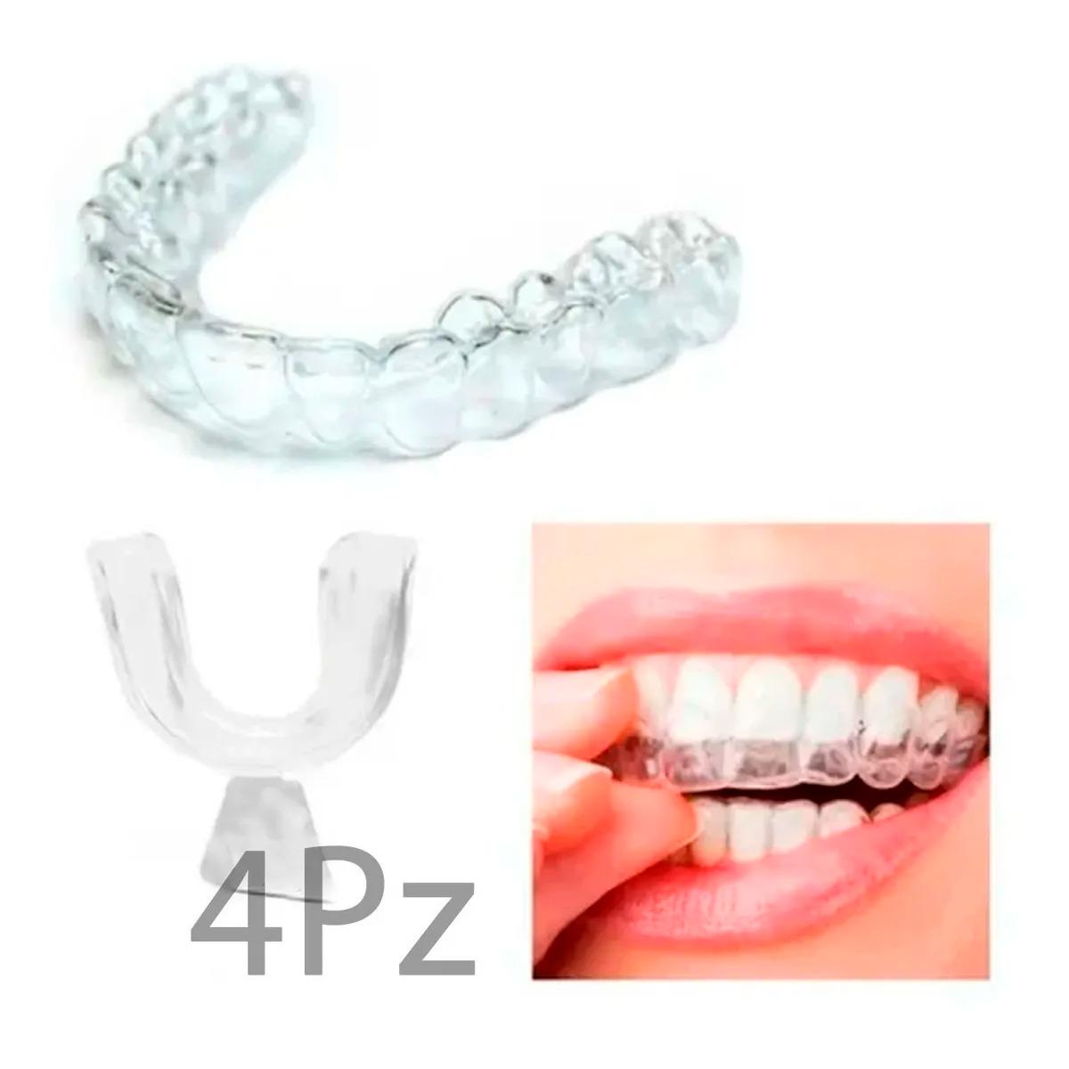 2 Par Protectores Bucales Guardas Dentales Gel Moldeable
