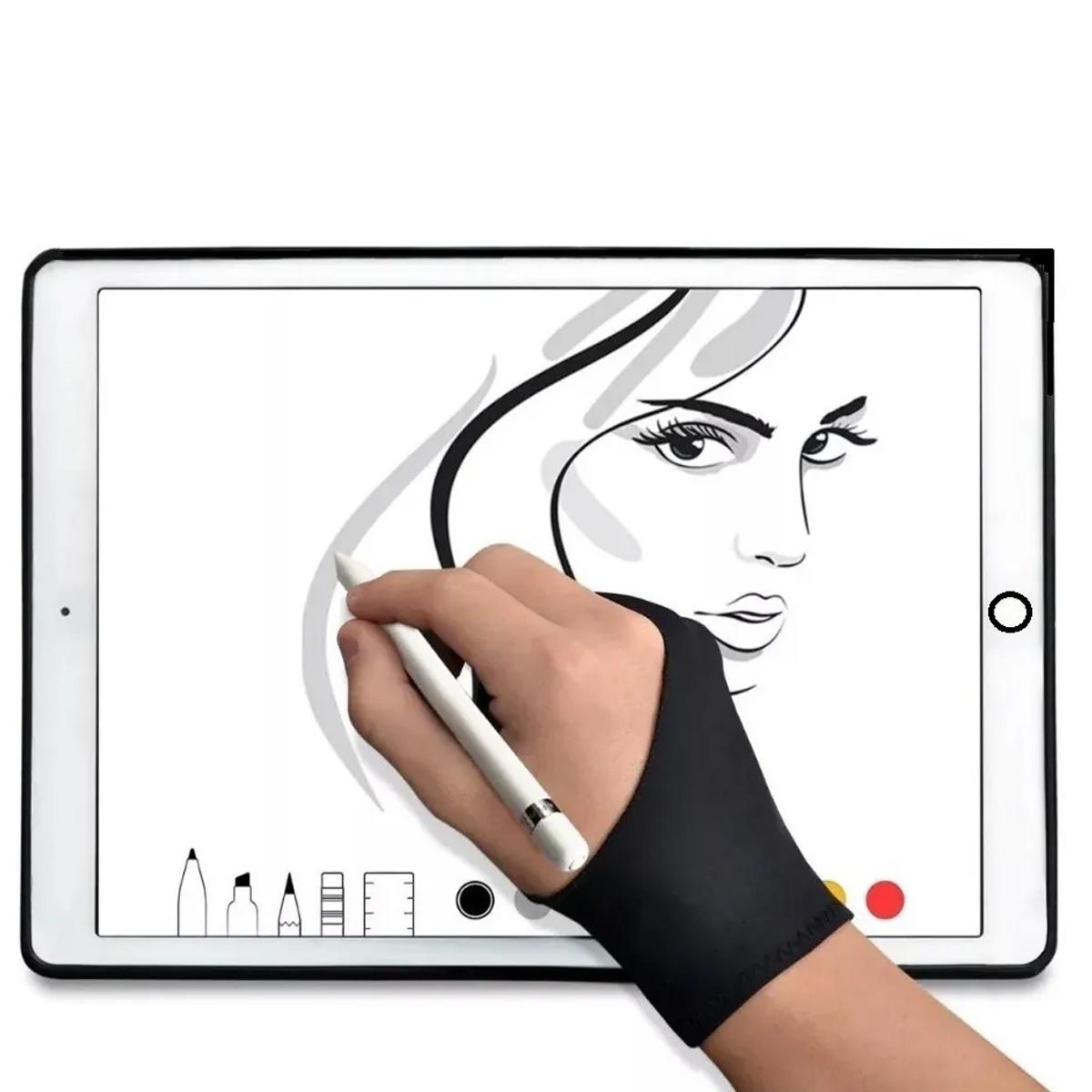 Guante 2 Dedos Tableta De Dibujo Digital Protección Papel