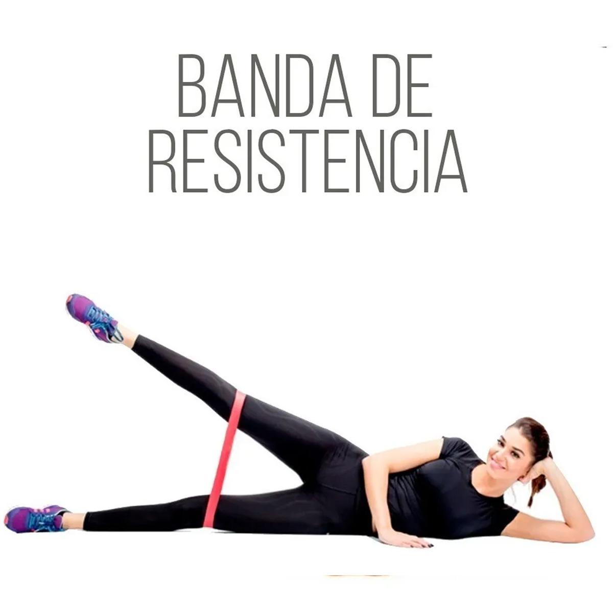 Set 5 Bandas De Resistencia Ligas Para Ejercicio Yoga Fisioterapia
