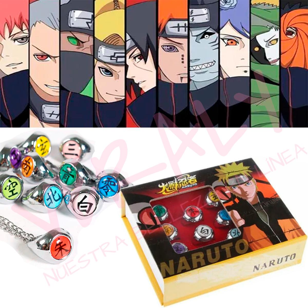Anillos Miembros De Akatsuki Naruto