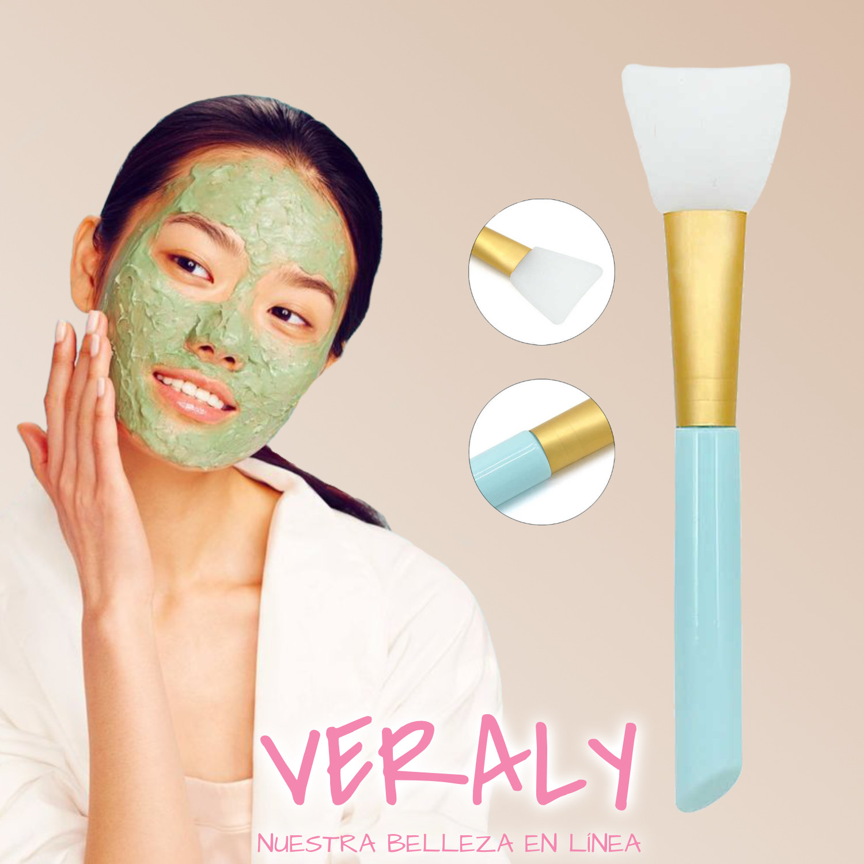 5 Pinceles Faciales De Silicona Aplica Mascarillas O Cremas