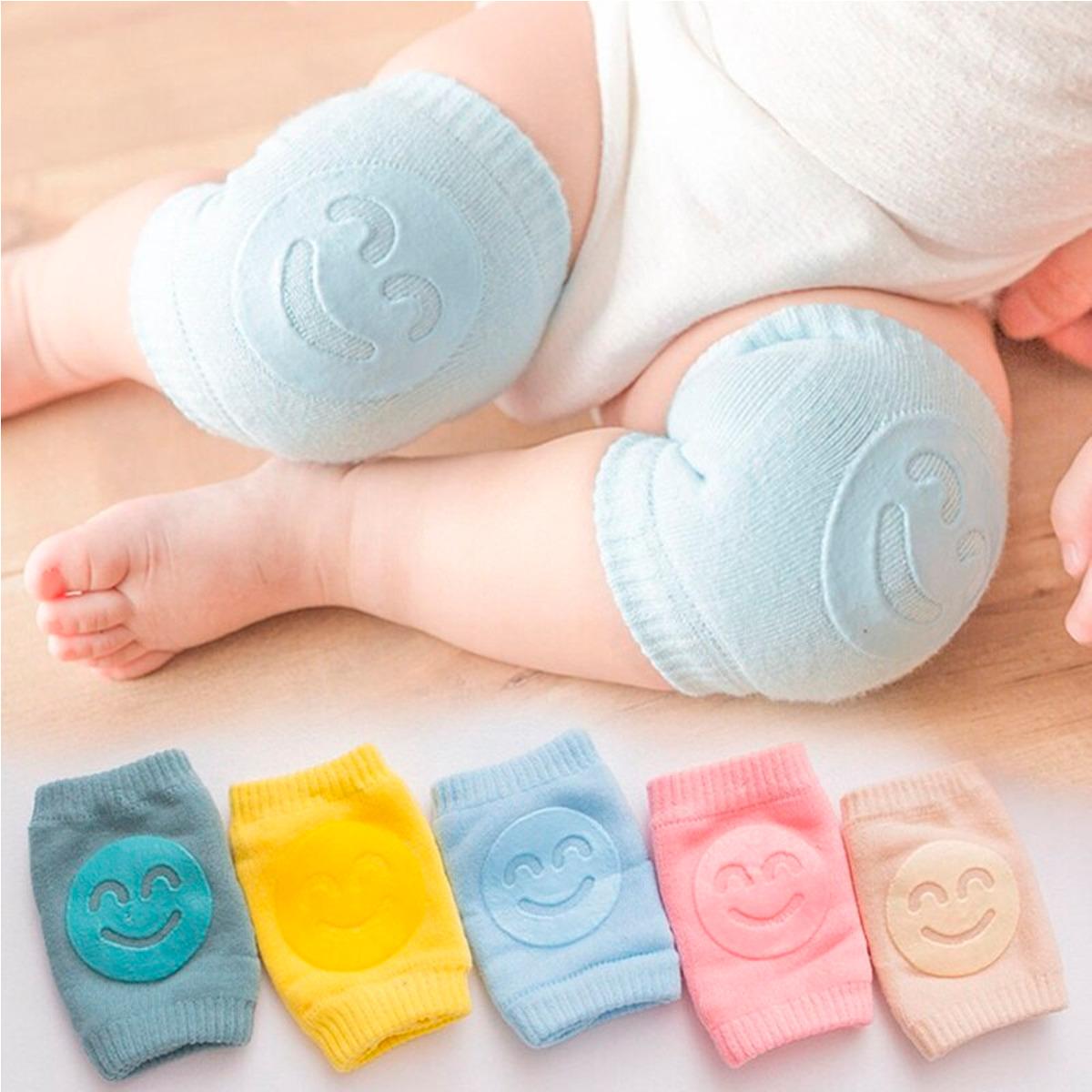 Rodillera De Algodón Antideslizante Para Bebé 1 Par