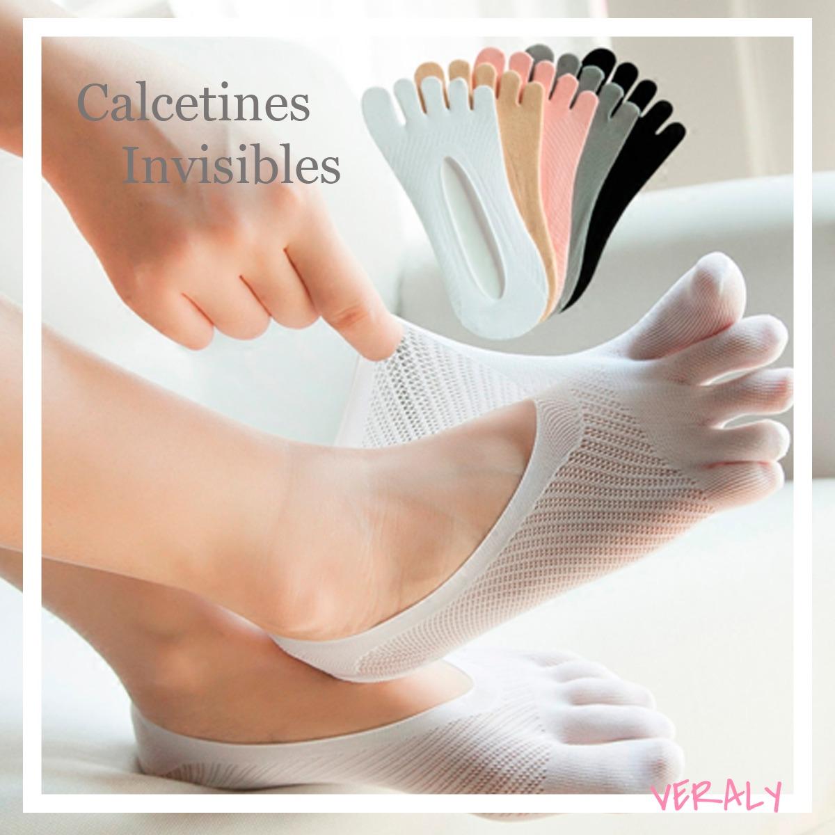 Calcetines Invisibles Ajustables Cómodos Con Cubre Dedos