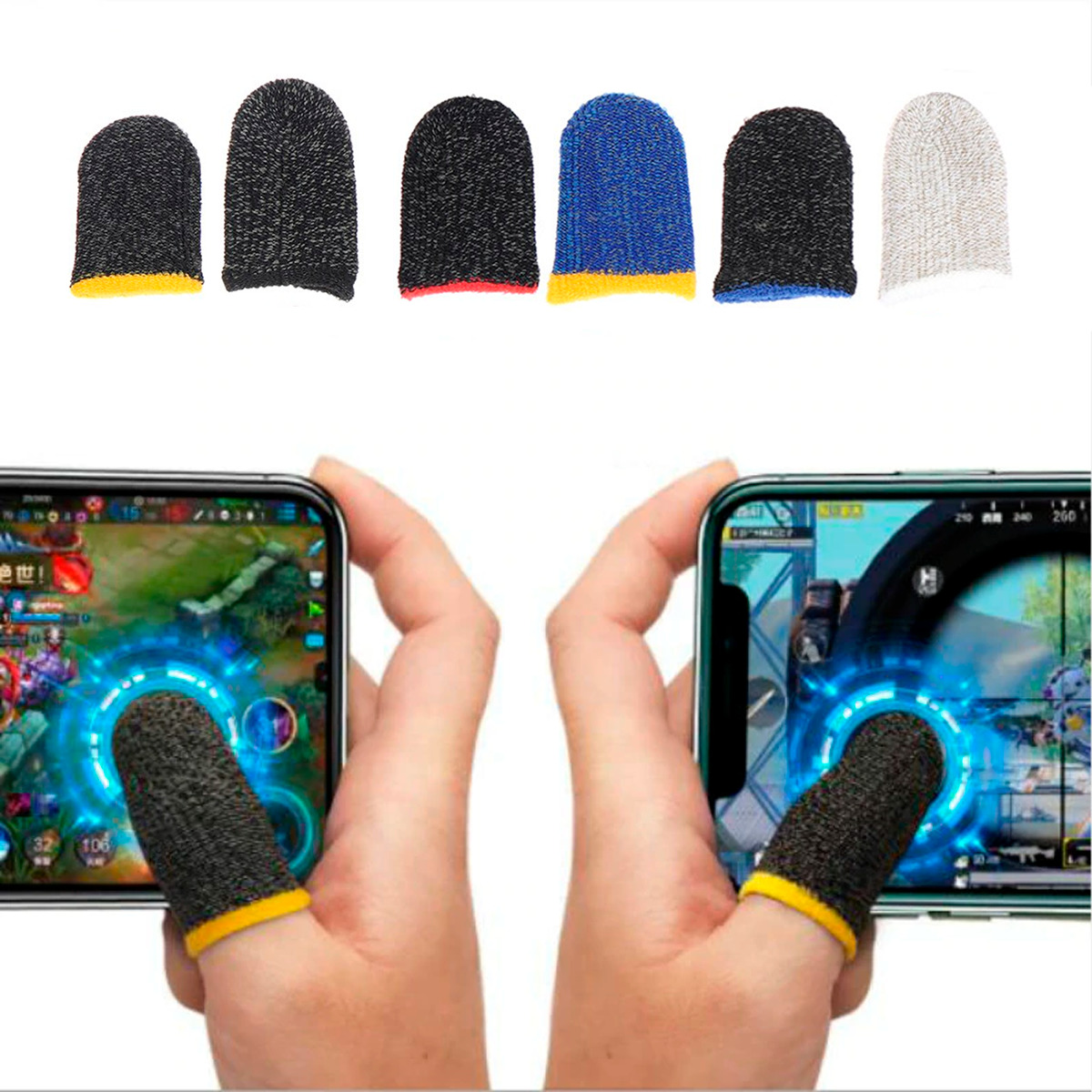 Fundas Gamer Touch Dedos Guante Anti- Sudor Sensibilidad
