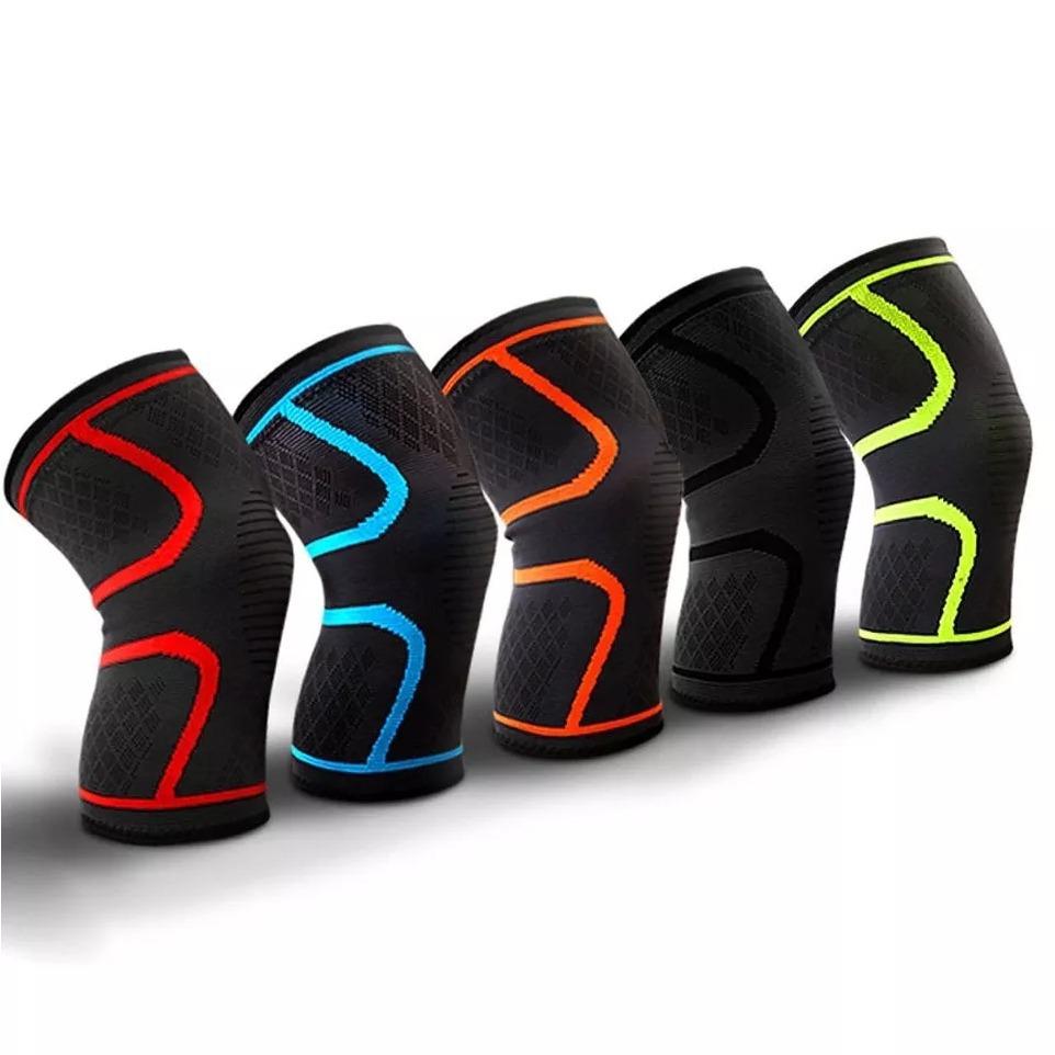 Rodillera New Knee Sleeves Power Elástica Correr Gym Par L